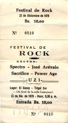 Entrada Festival de Rock (1979)