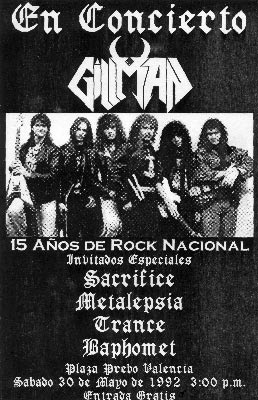 Poster Gillman 15 años (1992)