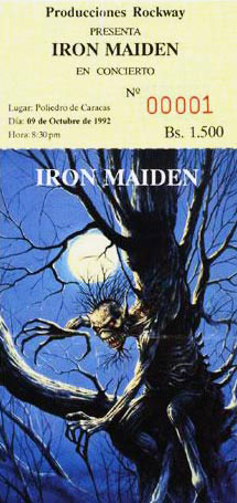 Iron Maiden - Poliedro 1992