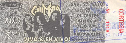 Enttrada para el concierto de Vivo & en Vivo en Valencia (1995)