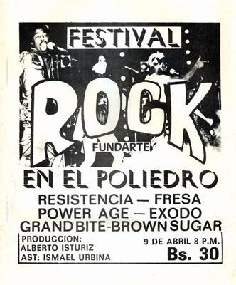 Festival de Rock en el Poliedro