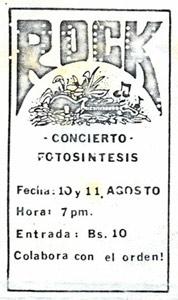 Afiche Concierto Fotosíntesis 1