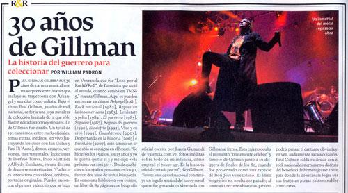 Rolling Stone  Magazine - 30 años de Gillman