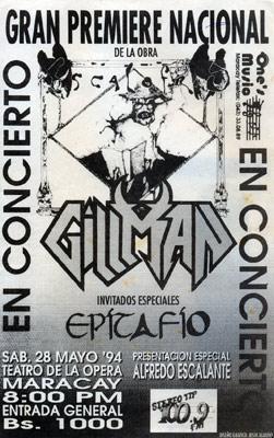 Poster Gillman Escalofrio (1994)