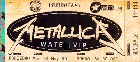 Metallica - Poliedro 1999