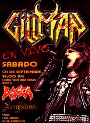 Afiche de la presentación en Quito (2001)